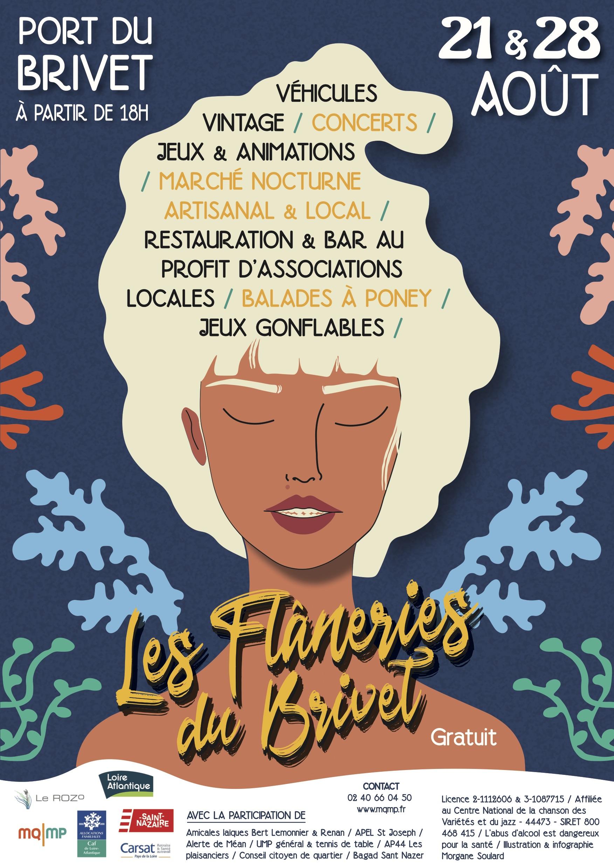 Marchés nocturnes des Flâneries du Brivet, St Nazaire – 21 & 28 août !